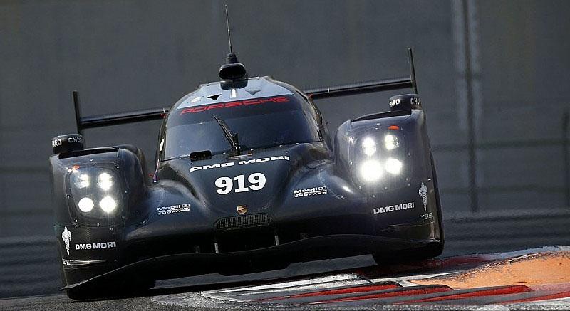 Porsche Webber test 2016